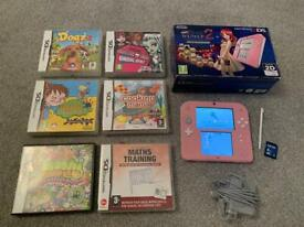 Nintendo 2DS pink with 6 games