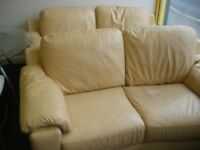 TWO 2-SEAT LEATHER SOFAS at Haven Housing Trust's charity shop