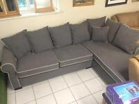 Grey corner suite new very comfy