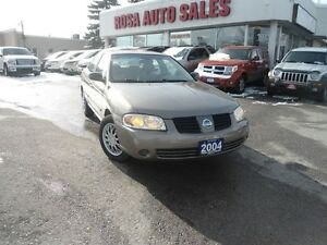 2004 Nissan Sentra 4dr Sdn 1.8 Auto low km safety ETEST NO RUST