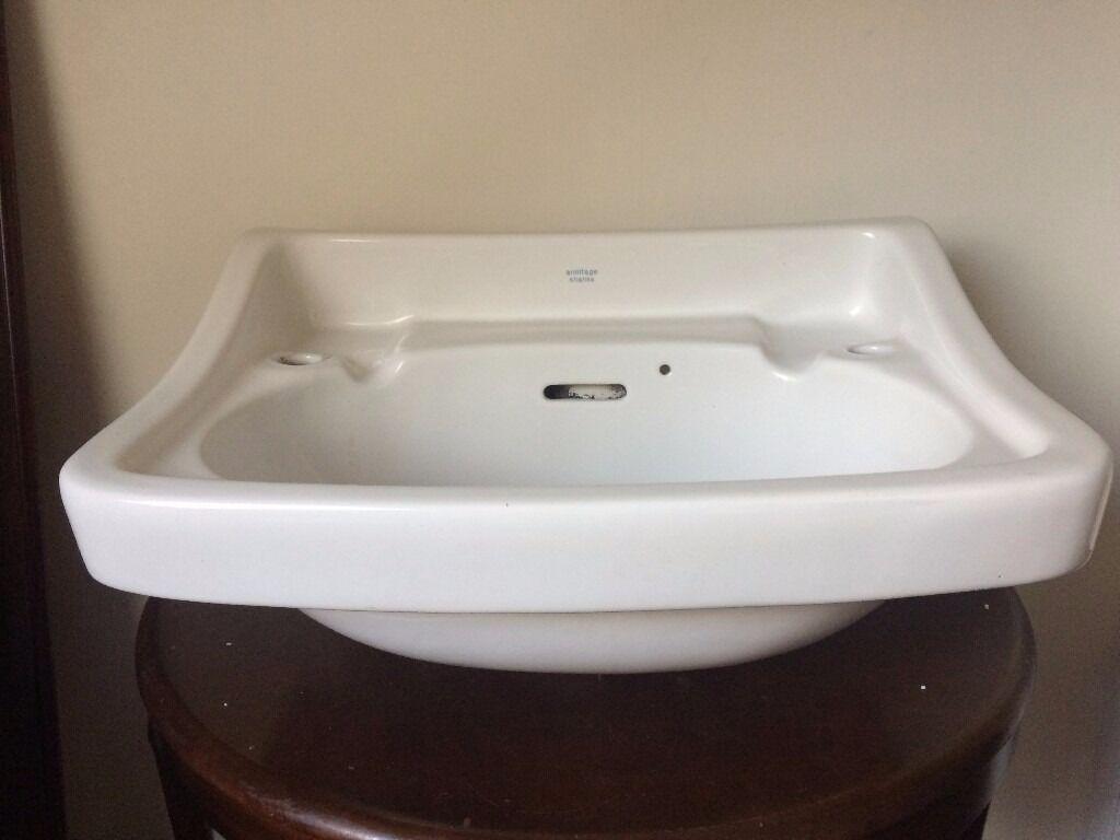 Armitage shanks bathroom sinks - Armitage Shanks Vintage Sink Basin In Excellent Condition