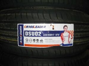 225/55R17 BRAND NEW SET ALL SEASON TIRES CROSS LEADER