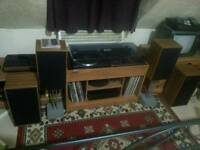 Vintage old music centre stereosound productions retro speakers hi fi