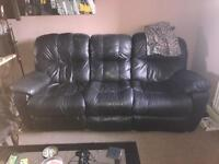 FREE Black leather recliner