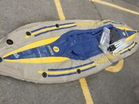 Intel challenger k2 inflatable 2 man canoe/ kayak