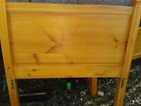 Single oak frame bed for sale