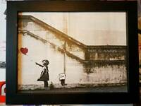 Framed Banksy Canvas