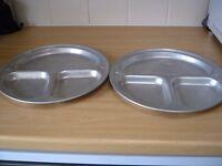 Two Light Weight Aluminium camping plates.