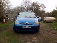 Toyota yaris 1.3 vvti 2003 53 plate good condition.
