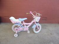 "Angelina Ballerina pink 14"" bike with stabilisers"