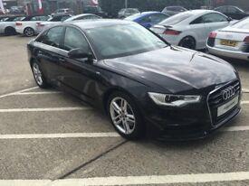 2014 Audi a6 c7 3.0tdi 245bhp s line quattro saloon black FASH