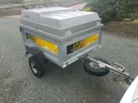 Erde 122 car tipping trailer with lockable hard top