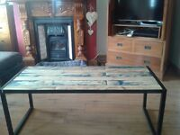 Full size metal and timber coffee table (pallet)