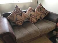Two sofas three seater
