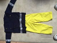 Fireman Fancy Dress Outfit Age 18-24 months