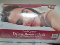 Wholesale Joblot: 180 x Pairs Hotel Quality Deluxe Bounce Back Pillows