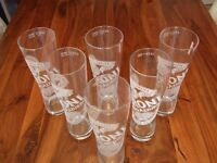 """SET OF 12 """"PERONI"""" PINT GLASSES - NEVER USED - NO CHIPS OR CRACKS"""
