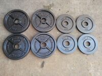 60kg of Olympic Metal Weight plates