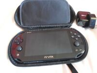 Playstation Vita with 16GB SD Card and case