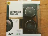 JVC foldable headphones with mic Android iPhone