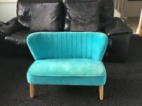 Children's couch / seat in teal