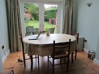 Quiet dining room table can be hired as workspace during the day in Oxford