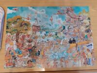 A COMIC, SWIMMING POOL - 1000 Piece Jigsaw Puzzle, GEROLD COMO COLLECTION by KING