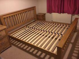 Superking slatted bed frame for sale