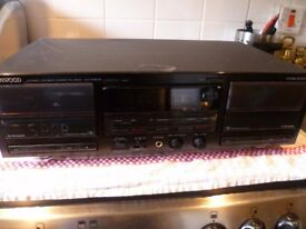kenwood double cassette deck