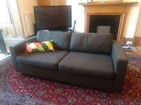 Three Seater Dark Grey Habitat Sofa