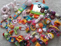 Big bundle of baby toys