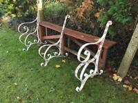 Vintage Wrought Iron Garden Patio Bench Ends Heavy Iron 12' Bench Delivery Available