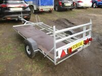 GALVANISED STEEL MOTORCYCLE / SCOOTER TRANSPORTER TRAILER.....