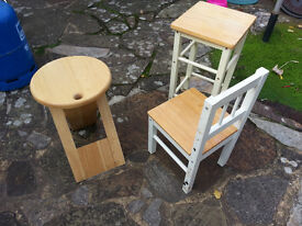 Two Stools and a Chair