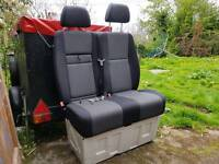 VW Crafter bench seat with metal bade