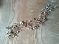 Gold leaf bridal hair vine/band
