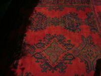 Antique Turkish Carpet still with plenty of wear beautiful colours.