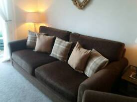 Large 3 seater and arm chair