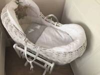 Mama and papas moses basket and glider stand