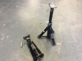 Sip fold away 2 tone axle stands, hight adjuster like new, only used once £10