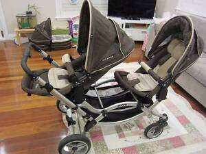 Double pram - ABC Design Zoom with 2 seats and bassinet Denistone East Ryde Area Preview