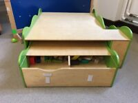 Storage and play table for children