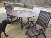 Garden Patio furniture. Table and four chairs