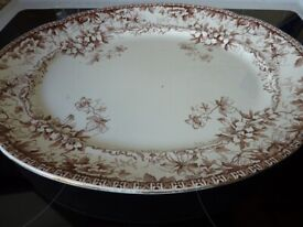 PAIR OF LARGE OVAL ANTIQUE MEAT PLATTERS BY F.Winkle & Co 1890s-1900s