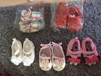 Baby girls shoes 0-3 and 0-6 months bundle
