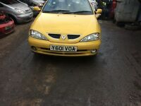 2001 Renault clio Dynamique Cabrio 1.6 yellow BREAKING FOR SPARES