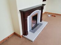 Fire place and 3 piece suite for sale