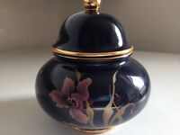 Stunning black Carlton Ware sugar bowl