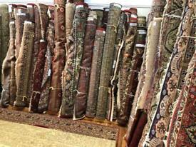 Preowned vintage handmade wool rugs