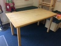 Solid pine ikea tables
